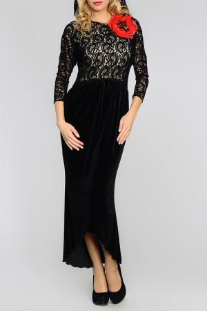 Платье двухслойное Kata Binska. Цвет: черный