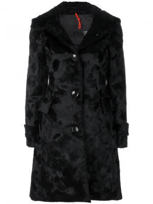 Однобортное фактурное пальто Rrd. Цвет: чёрный