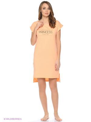Ночная сорочка Modis. Цвет: светло-оранжевый