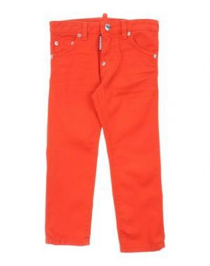 Джинсовые брюки DSQUARED2. Цвет: коралловый