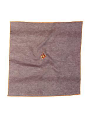 Платок 100% х/б 50*50 Passigatti. Цвет: коричневый
