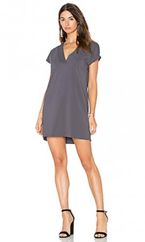 Платье kennedy Amanda Uprichard. Цвет: серый
