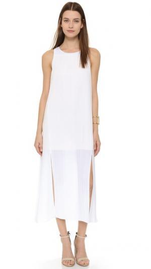 Мини-платье в складку Tess Giberson. Цвет: белый