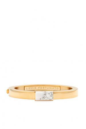Позолоченный браслет из латуни с говлитом Lizzie Fortunato. Цвет: золотой