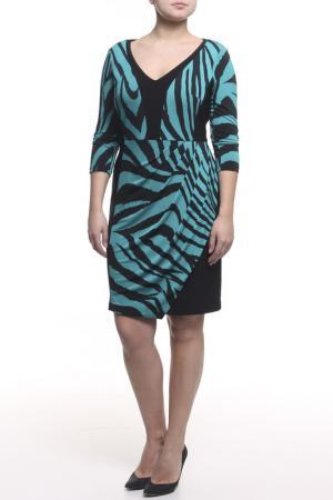 Платье Frank Lyman Design. Цвет: черно-бирюзовый