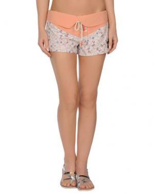 Пляжные брюки и шорты QUIKSILVER. Цвет: абрикосовый