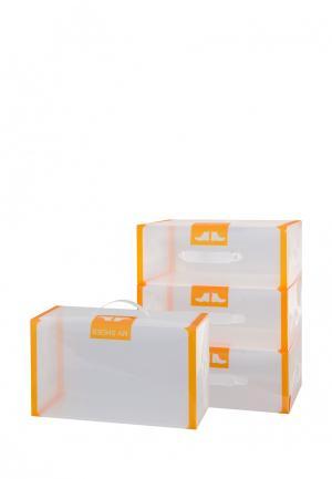 Система хранения для обуви 4 пр. El Casa. Цвет: оранжевый