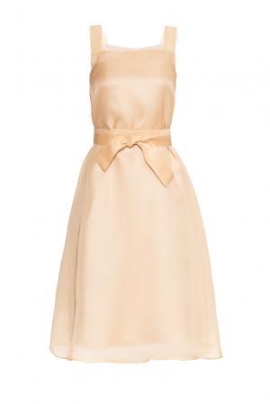 Платье из шелка с поясом PG-180639 Studia Pepen. Цвет: бежевый
