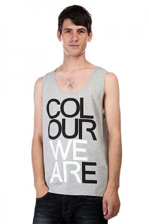 Майка  We Are Tank Grey Melange CLWR. Цвет: серый