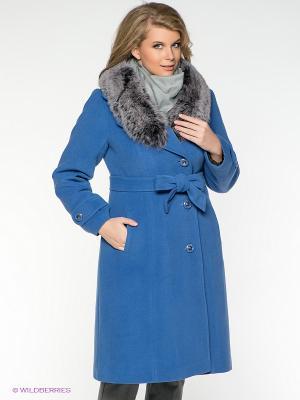 Пальто Klimini. Цвет: лазурный