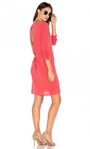 Платье-рубашка с вырезом сзади Stateside. Цвет: красный