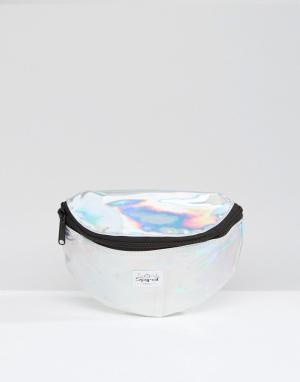 Spiral Серебристая сумка-пояс Rave. Цвет: серебряный