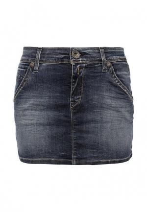 Юбка джинсовая Replay. Цвет: синий