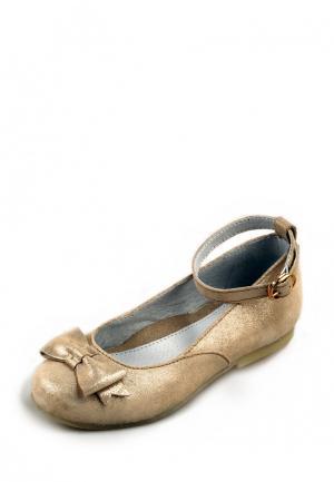 Туфли Elegami. Цвет: золотой