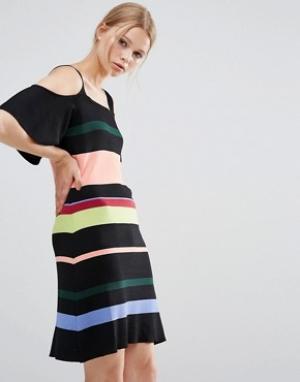 Style Mafia Платье в полоску. Цвет: черный