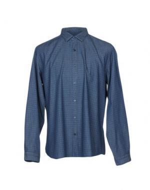 Джинсовая рубашка GABARDINE. Цвет: синий