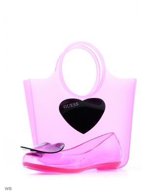 Балетки GUESS. Цвет: розовый