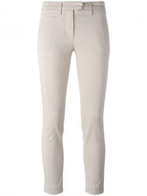 Укороченные брюки Dondup. Цвет: телесный
