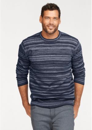 Пуловер MANS WORLD MAN'S. Цвет: темно-синий меланжевый