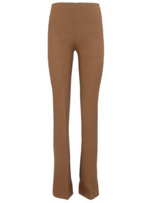 Расклешенные брюки Chapurin. Цвет: коричневый