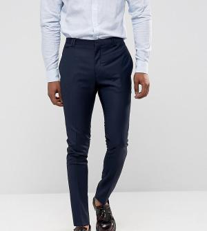 Noak Темно-синие супероблегающие брюки. Цвет: темно-синий