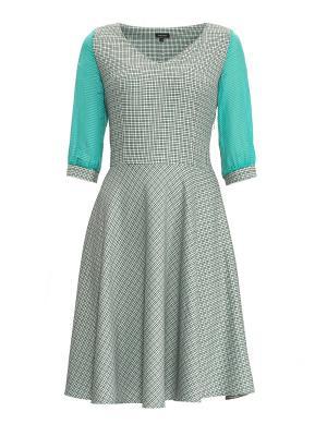 Платье Sarafan. Цвет: бирюзовый, серый