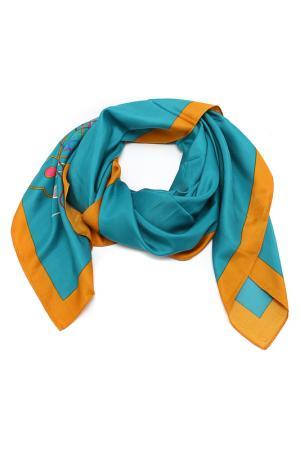 Платок Blu Style. Цвет: сине-зеленый, горчичный