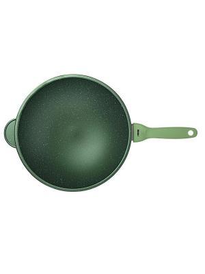 Сковорода-вок 30 см dr. green Risoli. Цвет: зеленый