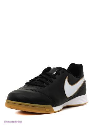 Бутсы JR TIEMPOX LEGEND VI IC Nike. Цвет: черный, белый