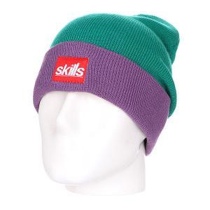 Шапка носок  New Sport Beanie Light Green/Purple Skills. Цвет: зеленый,фиолетовый