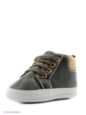 Пинетки Высокие ботиночки, 1 пара Luvable Friends. Цвет: черный