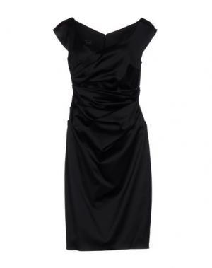 Платье до колена TALBOT RUNHOF. Цвет: черный