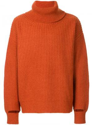 Свитер-водолазка Unused. Цвет: жёлтый и оранжевый