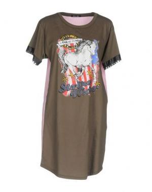 Короткое платье ODI ET AMO. Цвет: зеленый-милитари