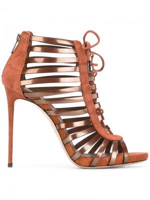 Ботинки со шнуровкой Le Silla. Цвет: коричневый