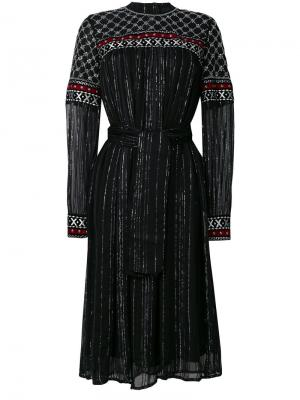 Платье с поясом металлическими деталями Dodo Bar Or. Цвет: чёрный