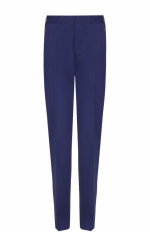 Хлопковые брюки чинос Lanvin. Цвет: синий