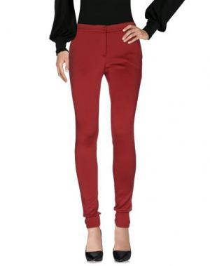 Повседневные брюки ANIYE BY. Цвет: кирпично-красный