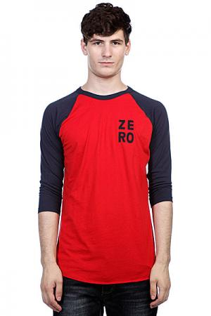 Лонгслив  Numero Jersey Red/Navy Zero. Цвет: красный