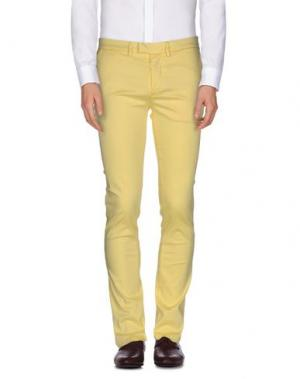 Повседневные брюки HAIKURE. Цвет: желтый