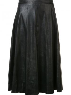 Драпированная юбка с завышенной талией Rebecca Taylor. Цвет: чёрный