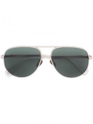 Солнцезащитные очки-авиаторы Vilebrequin. Цвет: металлический