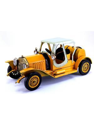 Коллекционная модель авто Ретро essentic. Цвет: желтый