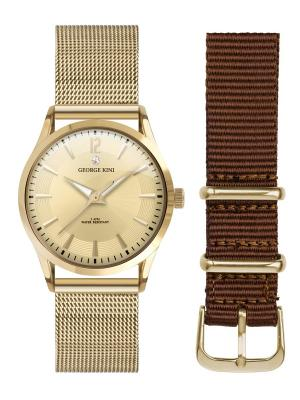 Часы GEORGE KINI. Цвет: золотистый