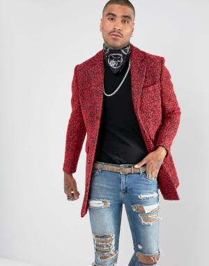Devils Advocate Премиум-пальто из букле с добавлением шерсти. Цвет: красный