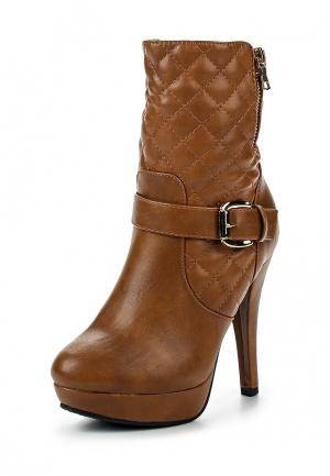 Ботильоны Chic & Swag. Цвет: коричневый