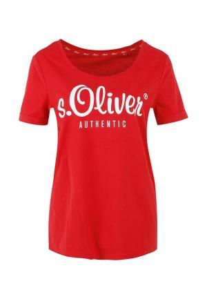 Футболка s.Oliver. Цвет: красный