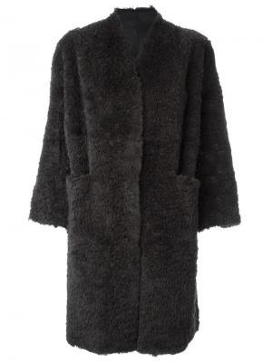 Меховое пальто Salvatore Santoro. Цвет: серый