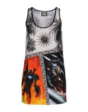 Короткое платье FAUSTO PUGLISI. Цвет: черный