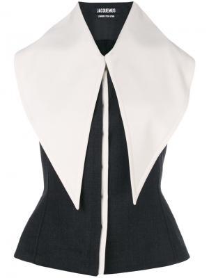 Блузка с удлиненным воротником Jacquemus. Цвет: серый